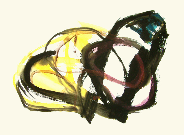 'Synopsis', abstract art on paper - no free digital image possible, any more