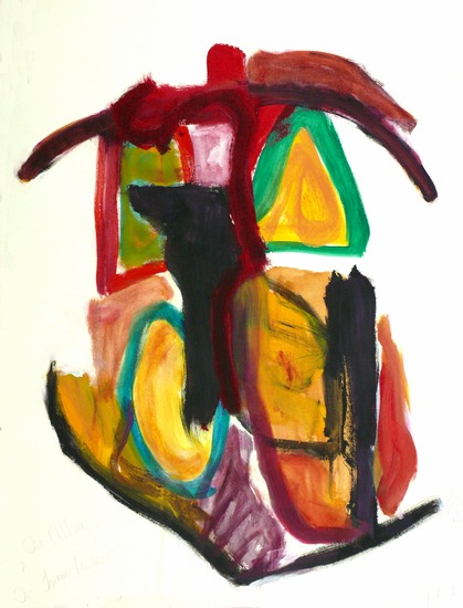 Inner house; acrylic abstract on paper