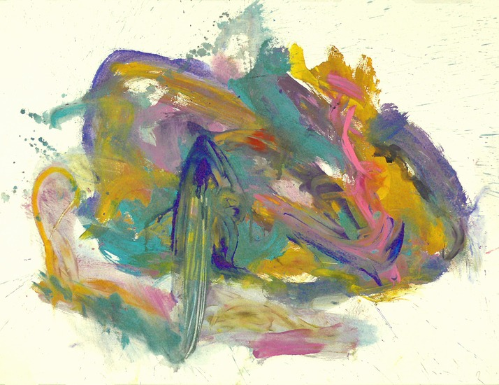 'Your colored voice' - modern abstract schilderij op papier - * gratis kunst / gereserveerd
