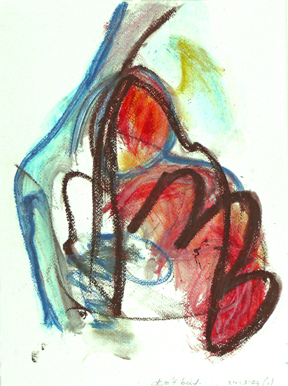 Don't bend, an abstract drawing on paper