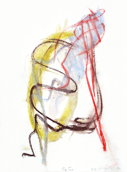 'The Two' - abstract drawing art in colors; free download