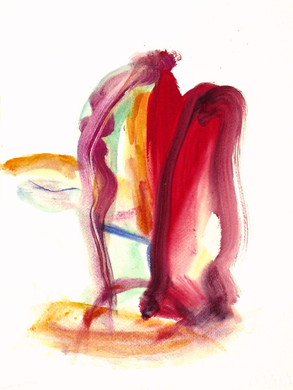 The Gate to ... - an abstract watercolor on paper