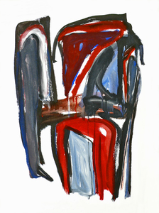 1995 abstract paintings on paper and on canvas