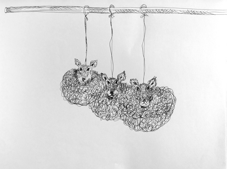 Drawing Hanging Around