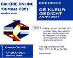 'DE KLEUR GEDICHT'  Online expositie 2021 met recent geometrische werk
