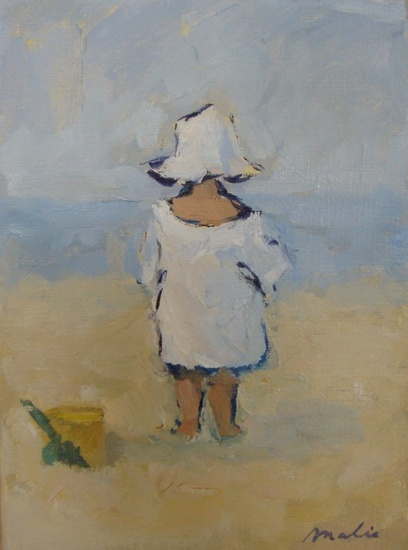 Child with white hat