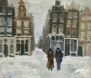 Some paintings which I made after the heavy snow in Amsterdam, which delighted everyone in town.