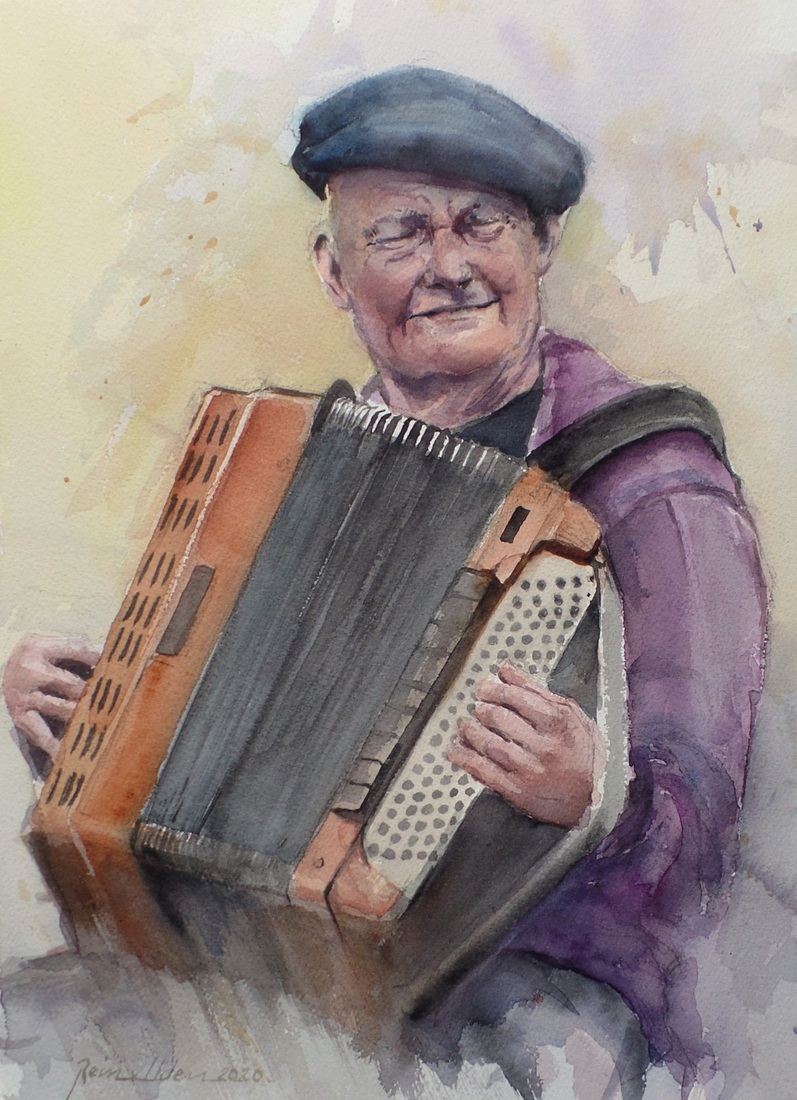 Accordeon speler