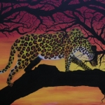 Leopard at dawn
