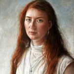 portrait of a woman with red hair