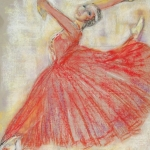 Primaballerina in rood