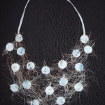 textile collar light blue
