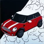 Mini one cherry red