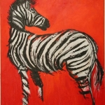 Zebra in Red