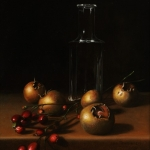 Medlars and bottle