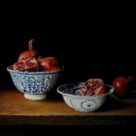 Chinese porcelain with pomegranates