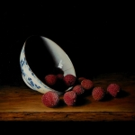 Chinese bowl with lychees