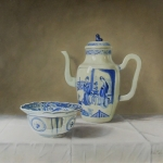 Chinese Crack `hooded 'cup and teapot Kangxi lijzen