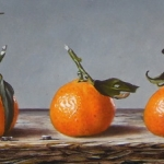 Tangerines, five in a row