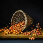 Still Life with Basket and ornamental apples