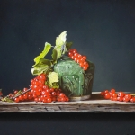 Ginger Jar with red currants
