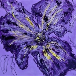 Violet flower abstracted