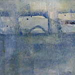 Abstract lagen in blauw