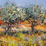 Wild flowers near the olive trees - 1