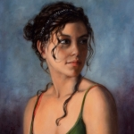 Portrait of a Girl naar Cesar Santos (studie)