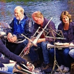 Blaasorkest in bootje