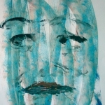Transparant face in blue no. 4