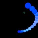 Glow, Large Pendulum Wave in blue