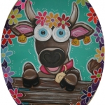 Crazy Cow with flowers