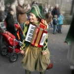 Straatartieste met accordeon
