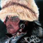 Tibetan man with fur hat