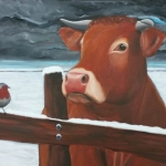Cow and Red Robin