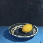 Lemon on blue