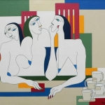 Three women around the table