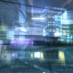 City anatomy -night sky towers-