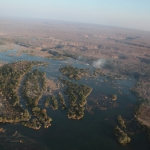Victoria Falls: Helicopter flight