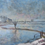 Landschap: uiterwaarden in de winter