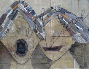 In this serie are works in mixed media. An abstract view of people who have a connection with each other.