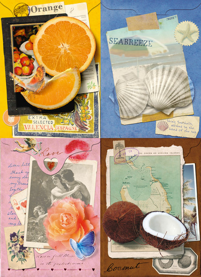 Geursachets 3: digitale collages