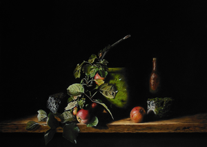 Paintings with atmospheric still lifes (available)