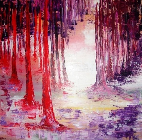 Purple and red forest