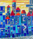 Artwork in New City: Cityscapes, townscapes, in glass