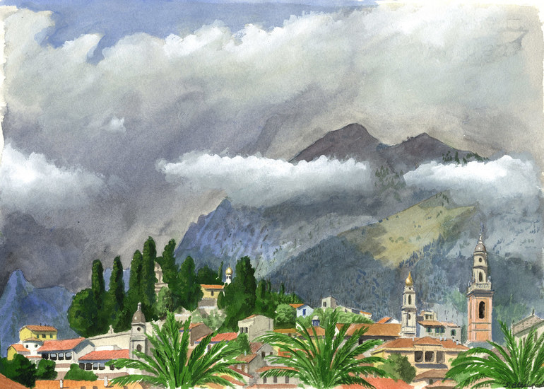 Menton and the Mountains