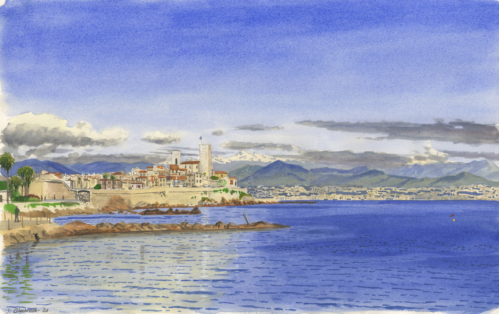 Antibes in de Winter