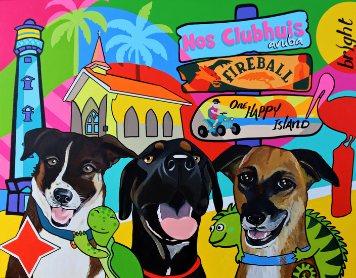 Aruba dogs in town