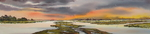 Panorma / stretched, wide watercolour of landscapes